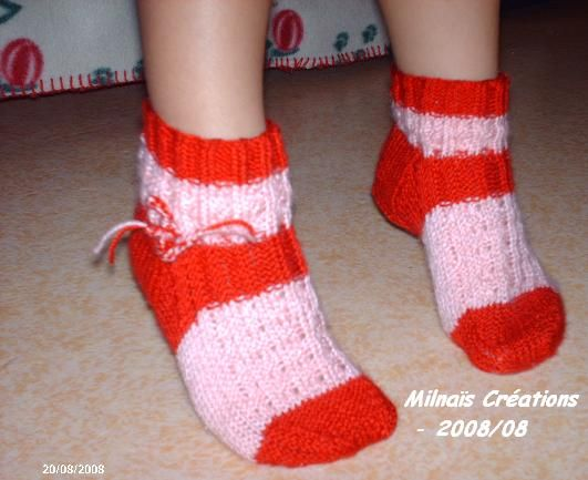 Chaussettes_rose_rouge