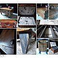 Valise bois verticale montage