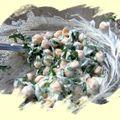 Salade de pois chiche à l'ail des ours