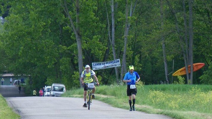 100 km de belves - gerard et moi