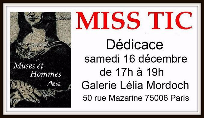 miss tic dedoicace