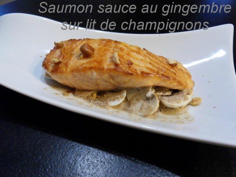 saumon sauce au gingembre et champignons