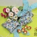 Idée du week end: un petit sac tout mignon pour rassembler sa récolte de paques.....