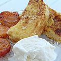 Brioche perdue, abricots rôtis et glace fior di latte
