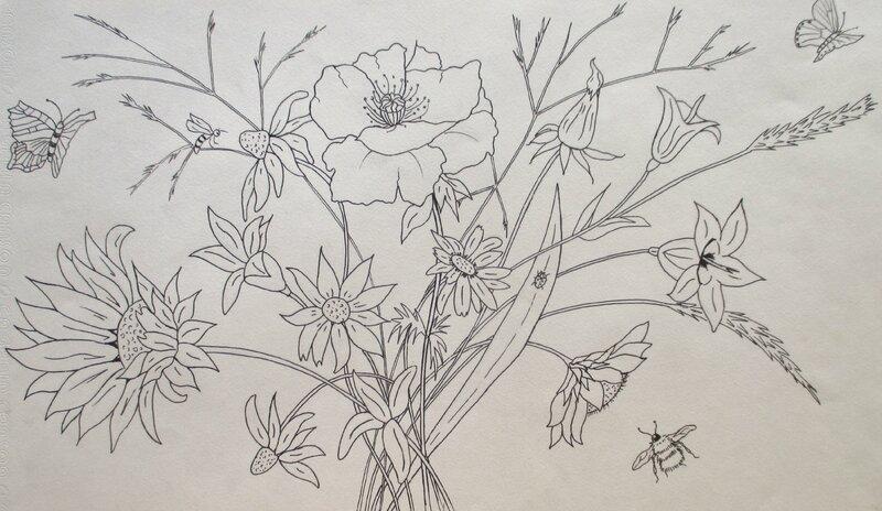 bouquet champêtre & insectes