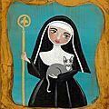 [grif' en fête] gertrude de nivelles, sainte patronne des chats, fêtée le 17 mars.