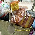 Cakes de poche au safran et cédrat confit