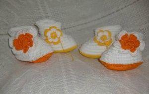 chaussons bébé au crochet3