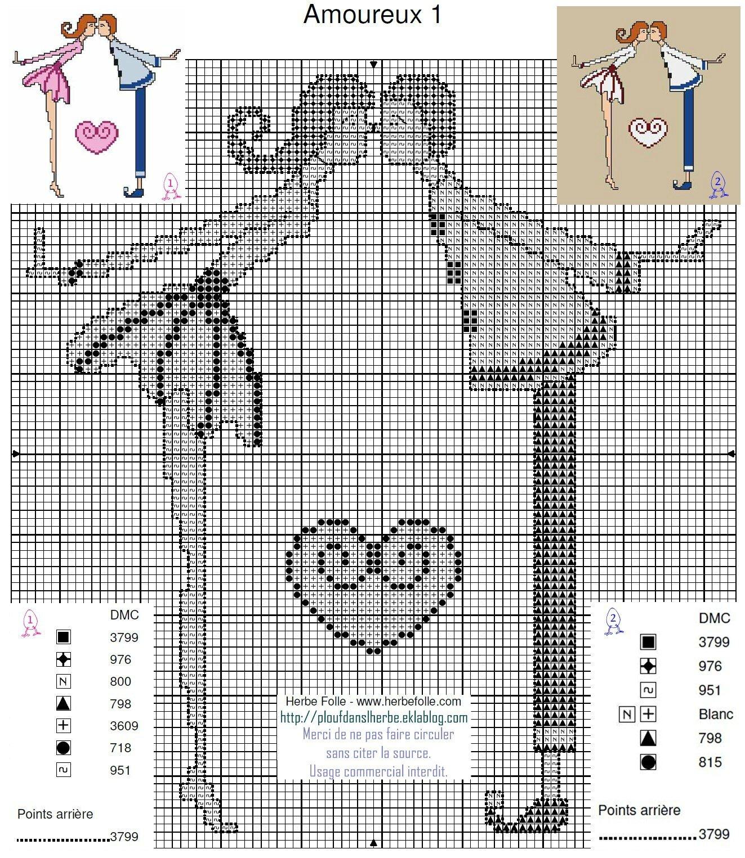 Grilles de points de croix gratuites mill 39 id es - Points de croix comptes grilles gratuites ...