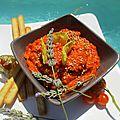 Tartinade épicée au chorizo, ratatouille et haricots blancs