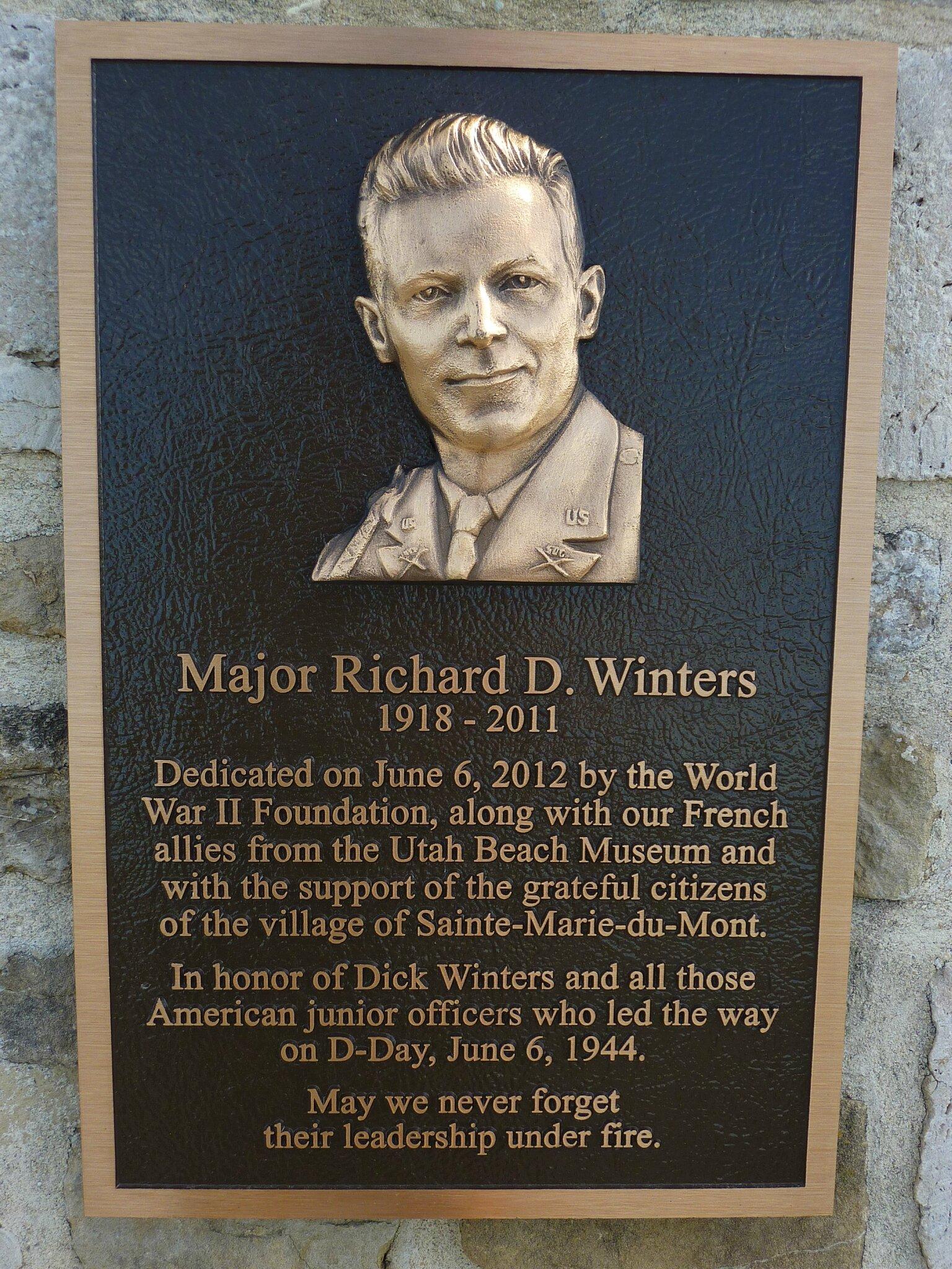 Monument Richard D Winters 101st Ab