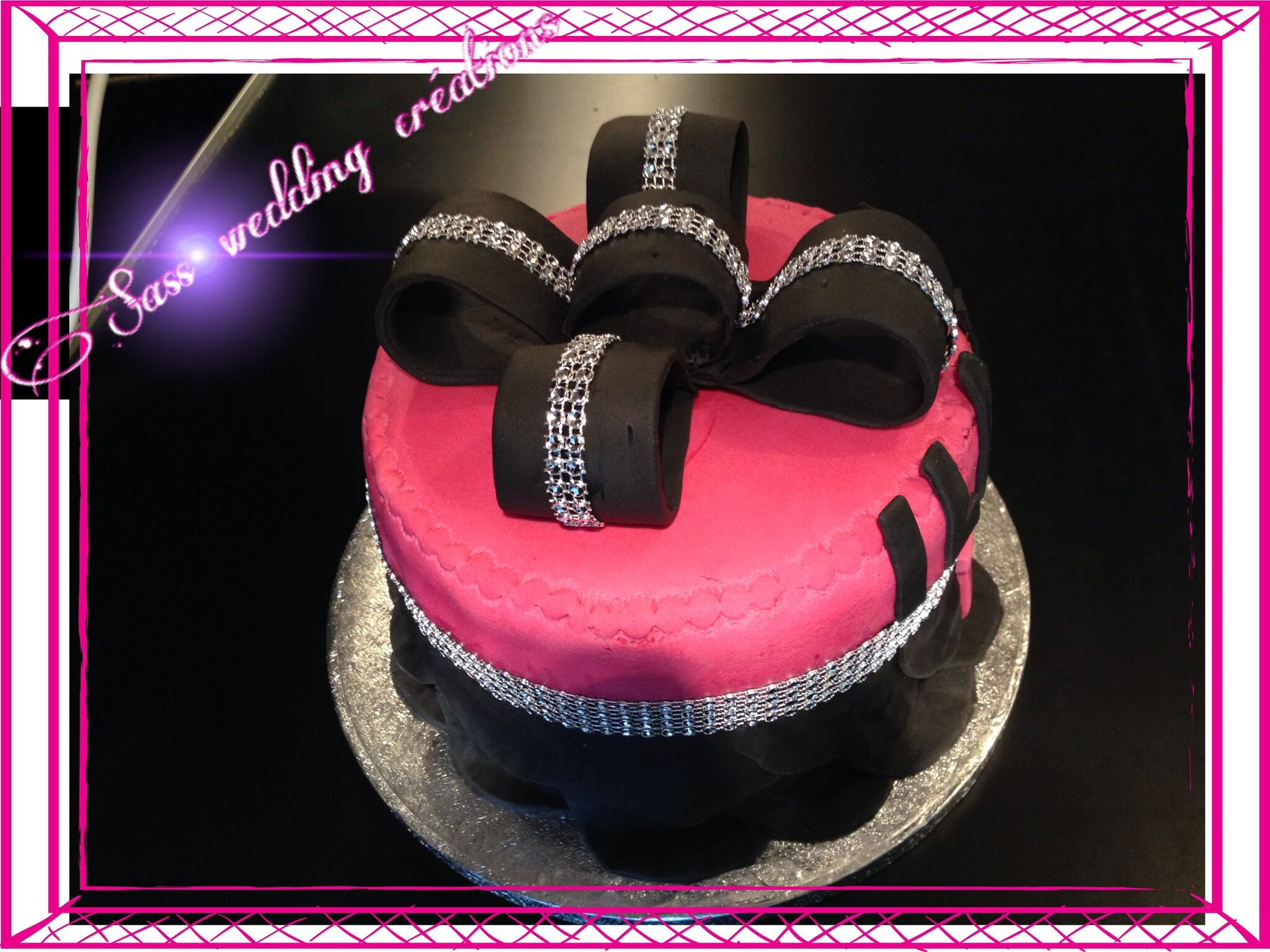 G teau au chocolat tr s girly pour f ter la majorit sass wedding creation - Gateau anniversaire 18 ans ...
