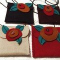 Felted wool pockets. $10. plus shipping