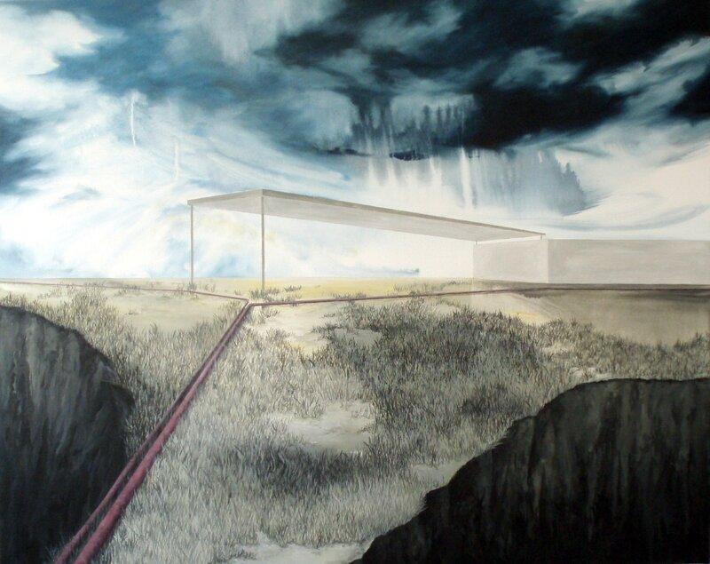 Linda Roux, Sans titre, acrylique sur toile, 125 x 100 cm, 2011