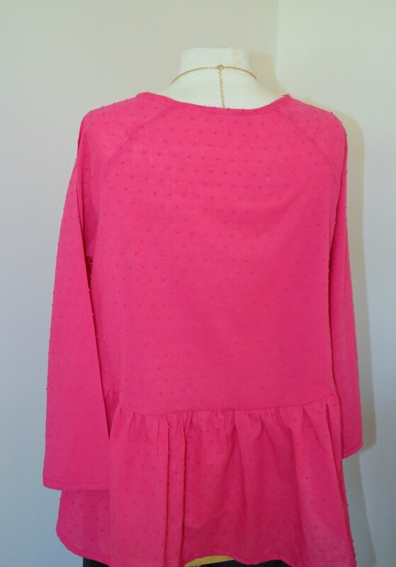 blouse Martha rose fushia 1