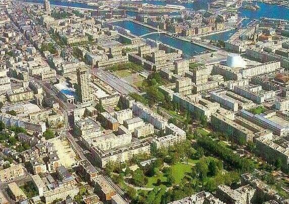 Vue aerienne du centre ville dans les ann es 80 le havre en photo - Maison de ville le havre ...