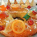 Pogne aux fruits confits - ma galette à moi ... bonne epiphanie !