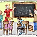 Conte musical et livre pop-up géant (4) : l'école et les fonds de page à l'aérographe