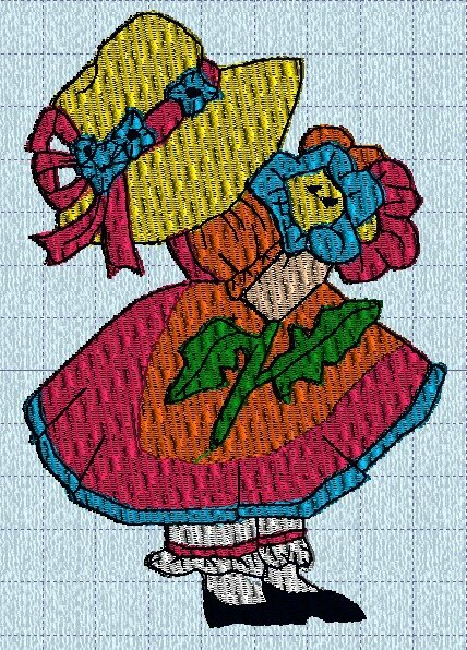 sunbonnet printemps machine