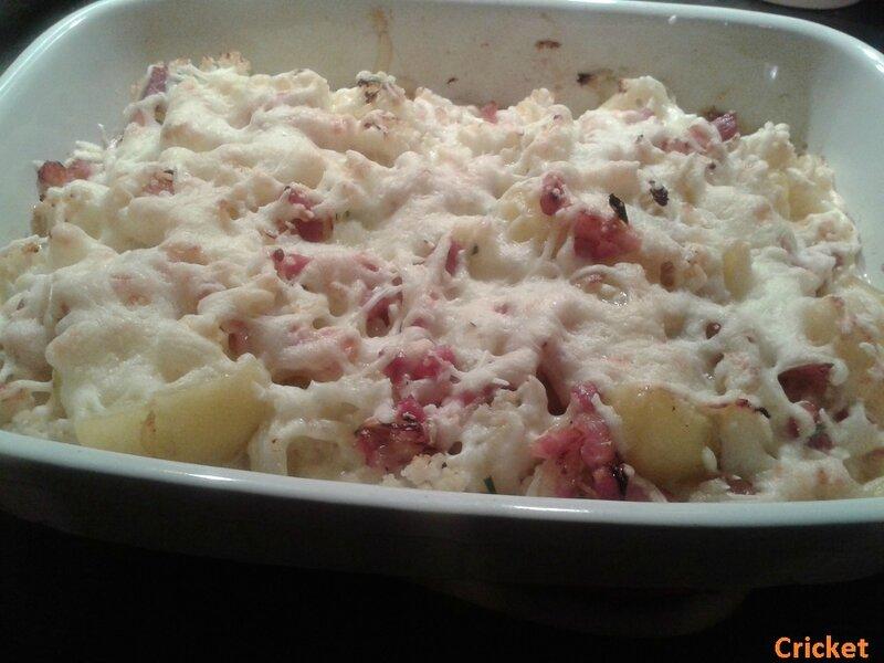 Gratin pommes de terre choufleur