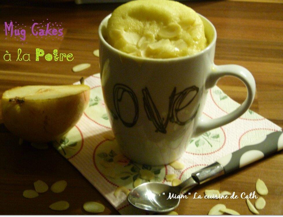 """ღ """" MIAM """" Mug Cake à la Poire !"""