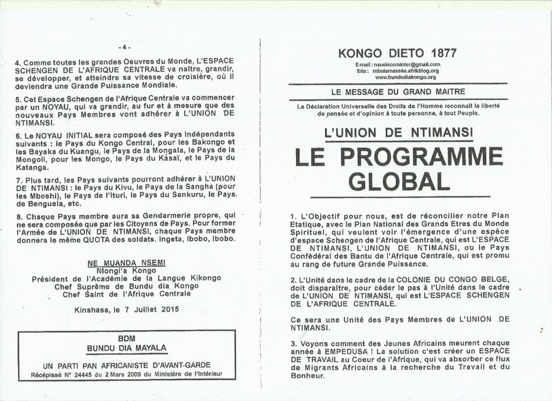 LE PROGRAMME GLOBAL a