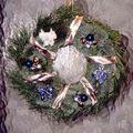 art floral - couronne de noël
