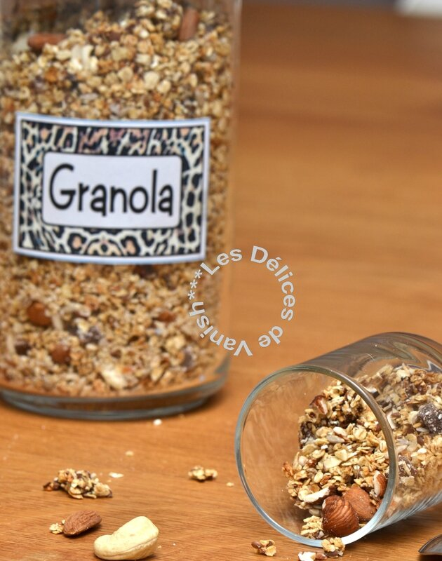 granola maison, granola bio, flocons d'avoine