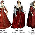 La mode de 1550 à 1610 - version fraisée