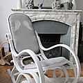 Rocking chair gris AILES D'ANGE - VENDU