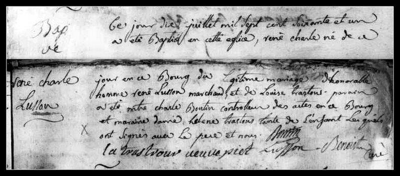 acte naissance René-Charles Lusson