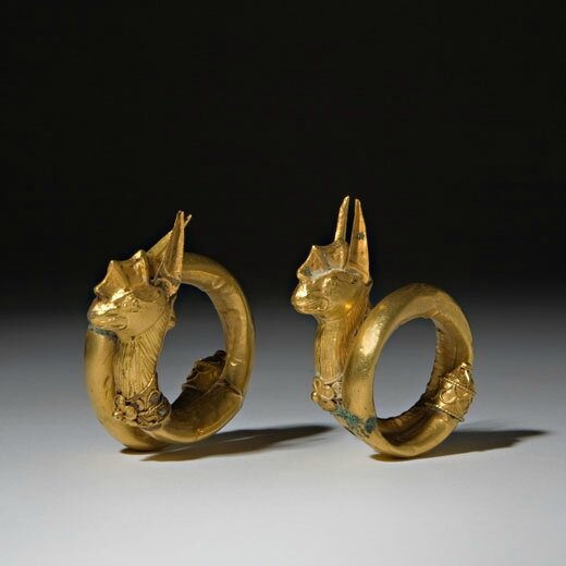 Pair of Gold Ear Ornaments