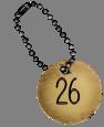 médaille de numérotation 26