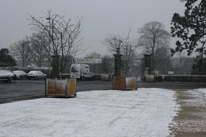 Avranches neige samedi 30 mars 2013 portail jardin des plantes