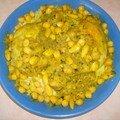 Poulet marocain aux amandes et pois chiche