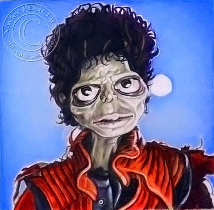 MICHAEL_JACKSON_THRILLER_by_Xavier_Hourlier
