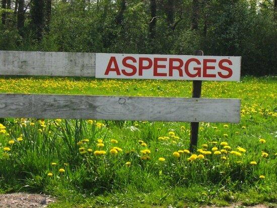 asperges panneau