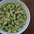 Salade de concombre au sésame