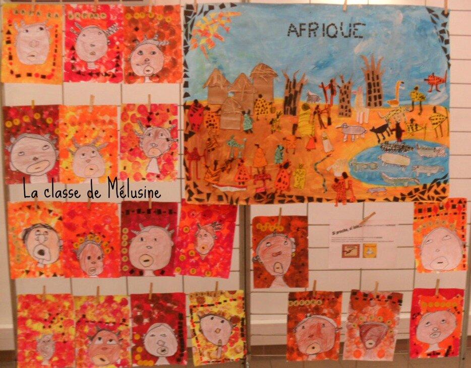 """Connu Fresque d'Afrique """"Méli-Mélo"""" - la classe de Mélusine JU29"""