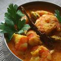 Curry de crevettes au yaourt