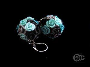 BO boule roses gris-mélange bleu-anthracite