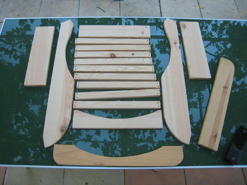 Fauteuil adirondack en pin cr ations et bricolages d 39 oli - Plan de chaise adirondack gratuit ...