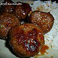 Boulettes de porc à la cacahuète