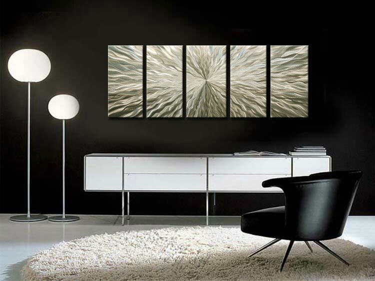 Id e d coration murale le tableau design m tal des for Idee deco interieur design