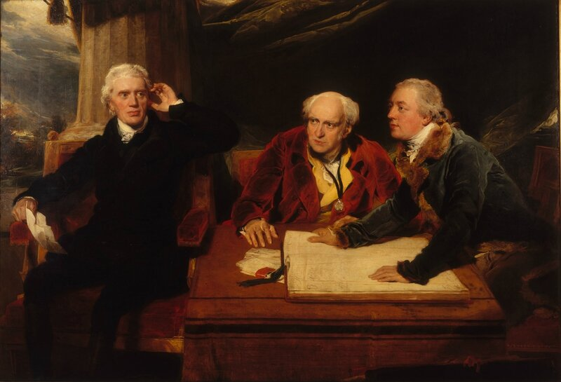Sir Thomas Lawrence, 'Sir Francis Baring, 1st Baronet, John Baring, and Charles Wall', 1806-1807