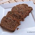 Cake brun aux pépites de chocolat