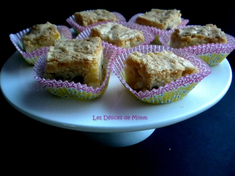 Blondies aux cranberries 2