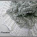 Petite variation, châle au crochet