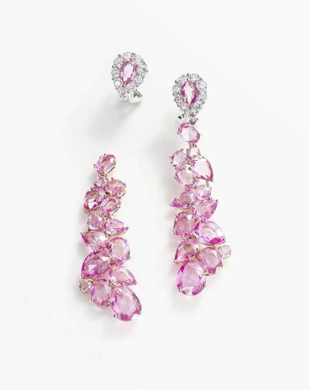 william and son_pink sapphires drop earrings