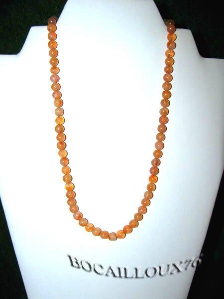 Collier CORNALINE7 Perles D